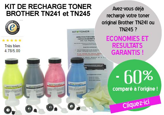 Recharge toner Brother TN245 et TN241
