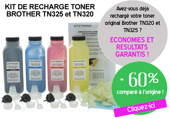 Recharge toner Brother TN325 et TN320