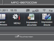 Brother MFC-9970CDW - Ignorer les messages <<toner faible>> ou <<toner vide>>